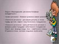 Згідно з Вернадським, речовина біосфери складається з: • живої речовини - біо...