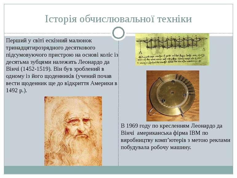 Історія обчислювальної техніки Перший у свiтi ескiзний малюнок тринадцятирозр...