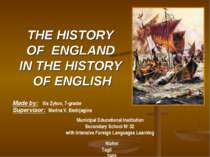The history of eEngland in the history of English