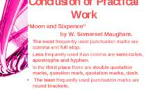 "Сonclusion of Practical Work ""Moon and Sixpence"" by W. Somerset Maugham. The ..."