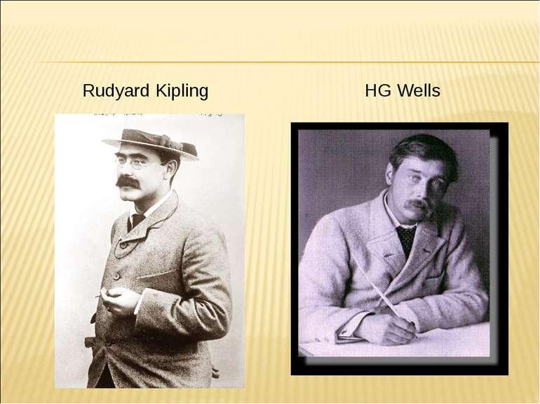Rudyard Kipling HG Wells