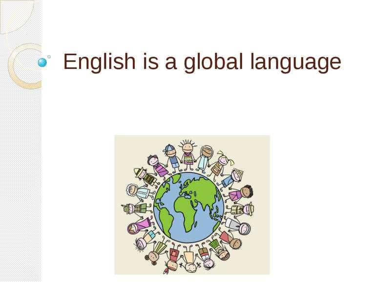 English is a global language