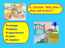 """menage tableau appartement salon chambre A. Christie """"Why didn`t they ask Eva..."""