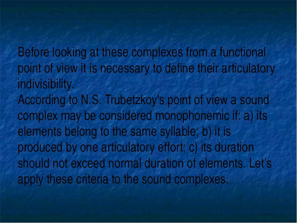 Before looking at these complexes from a functional point of view it is neces...
