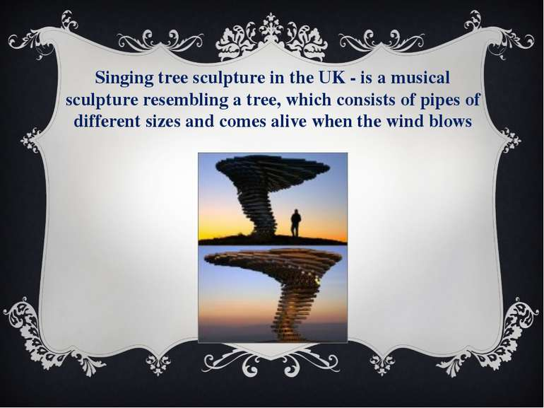 Singing tree sculpture in the UK - is a musical sculpture resembling a tree, ...