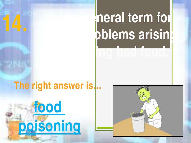 It is a general term for health problems arising from eating bad food. The ri...