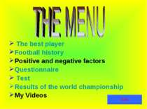 The best player Football history Positive and negative factors Questionnaire ...