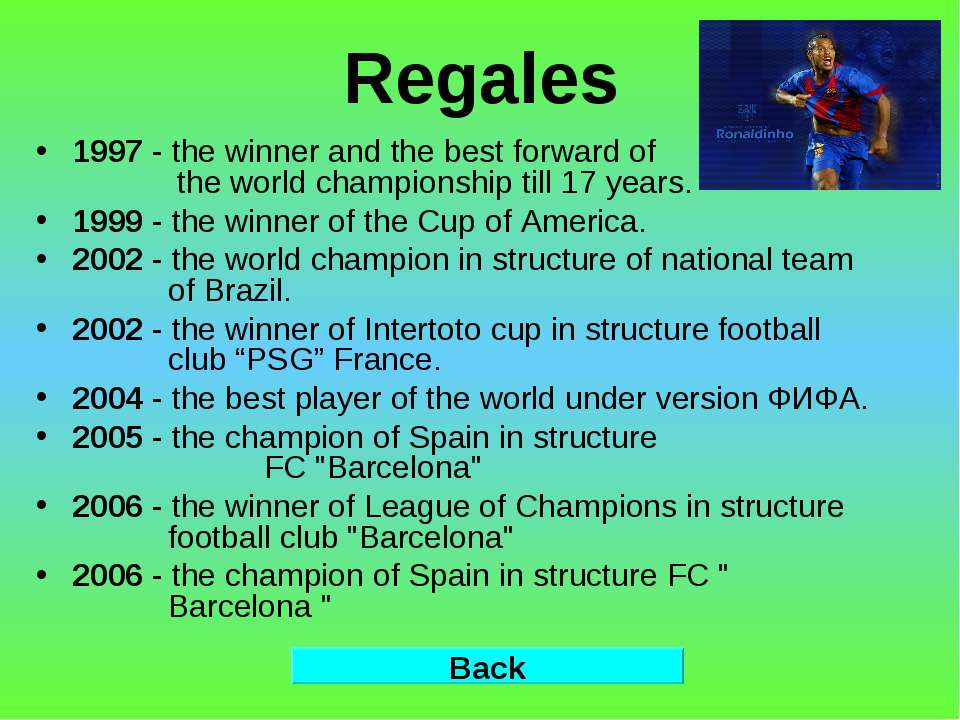 Regales 1997 - the winner and the best forward of the world championship till...