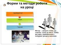 Форми та методи роботи на уроці