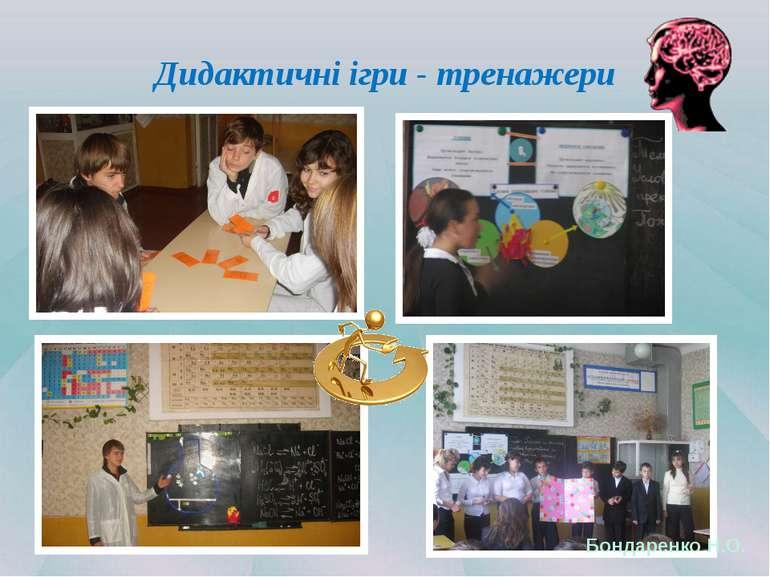 Дидактичні ігри - тренажери Бондаренко Н.О.