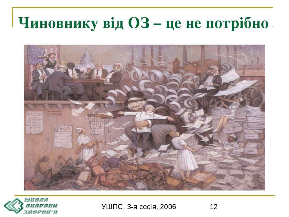 Чиновнику від ОЗ – це не потрібно УШПС, 3-я сесія, 2006