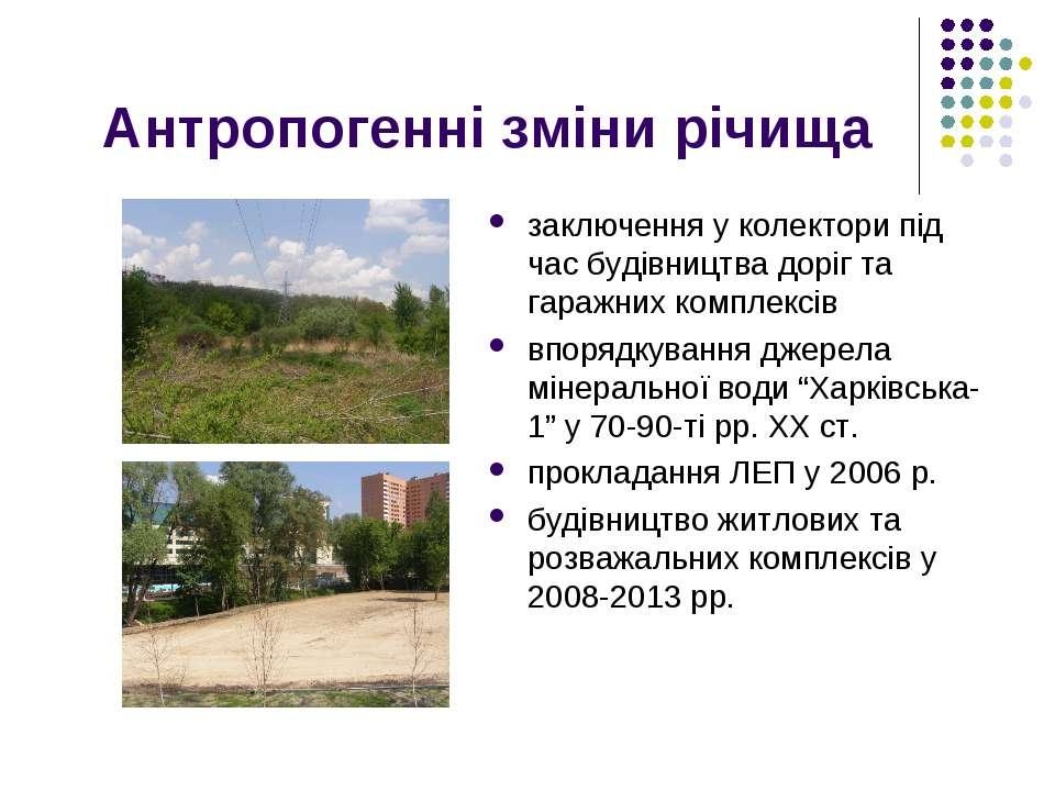 Антропогенні зміни річища заключення у колектори під час будівництва доріг та...