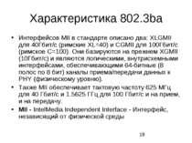 Характеристика 802.3ba Интерфейсов MII в стандарте описано два: XLGMII для 40...