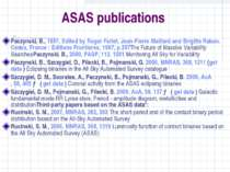 ASAS publications Paczynski, B., 1997, Edited by Roger Ferlet, Jean-Pierre Ma...