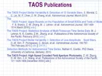 TAOS Publications The TAOS Project Stellar Variability II. Detection of 15 Va...