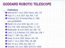 GODDARD ROBOTIC TELESCOPE Publications Vestrand W.T. et al. 2006, Nature, 442...