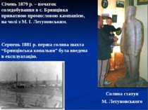 Січень 1879 р. – початок соледобування в с. Брянцівка приватною промисловою к...