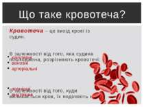 Кровотеча – це вихід крові із судин. В залежності від того, яка судина пошкод...