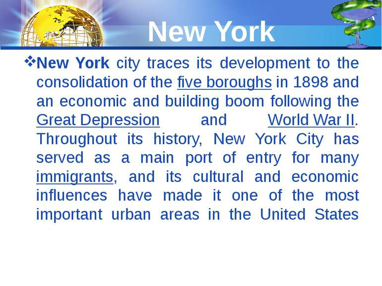 New York New York city traces its development to the consolidation of the fiv...