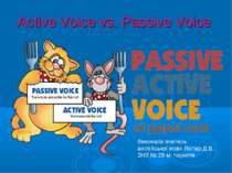 Active Voice vs. Passive Voice