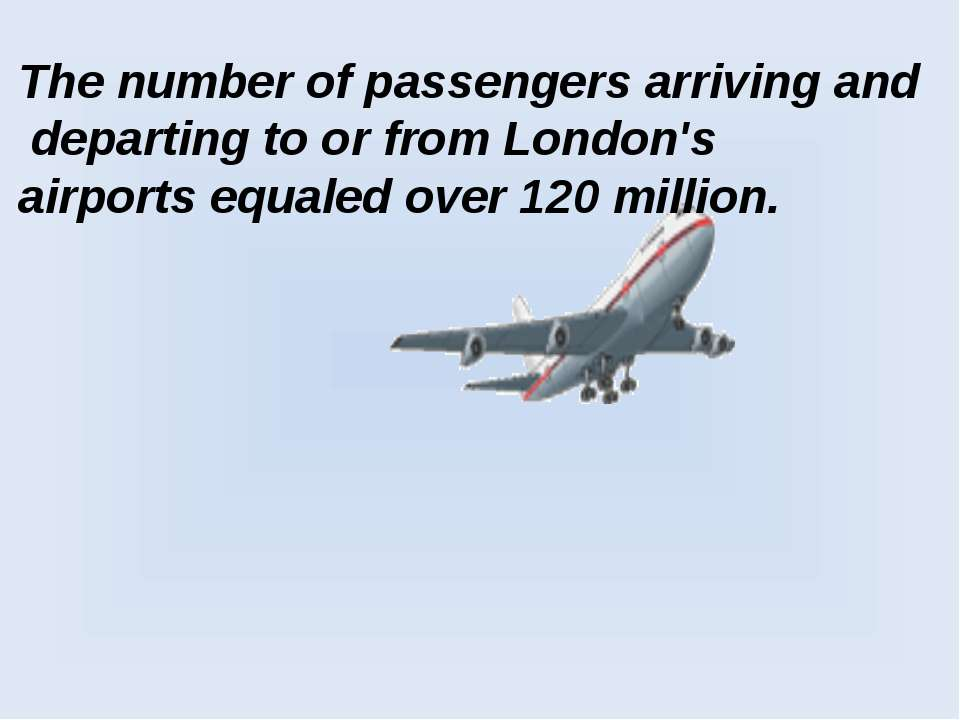 The number of passengers arriving and departing to or from London's airports ...