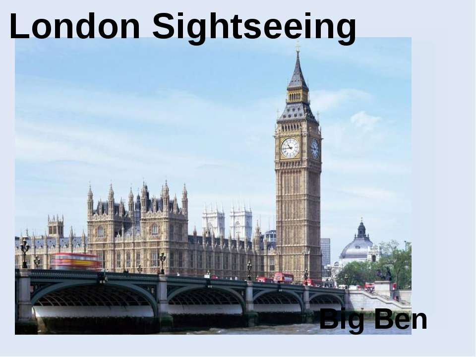 London Sightseeing Big Ben