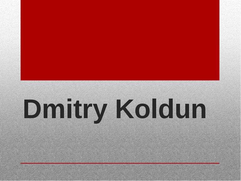 Dmitry Koldun