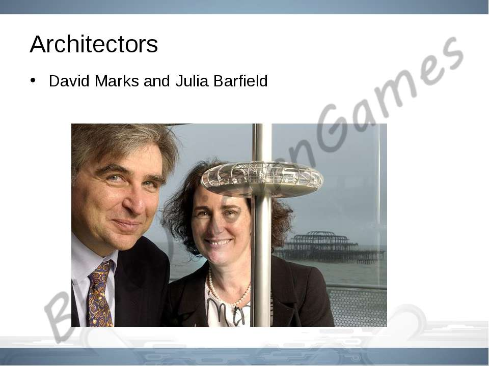 Architectors David Marks and Julia Barfield