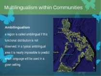 Ambilingualism a region is called ambilingual if this functional distribution...