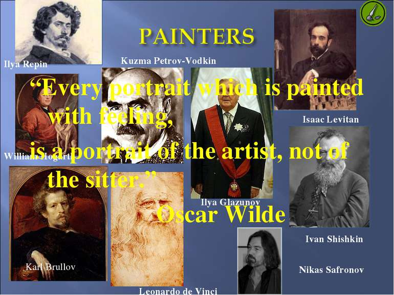 Ilya Repin Isaac Levitan William Hogarth Ilya Glazunov Kuzma Petrov-Vodkin Ka...