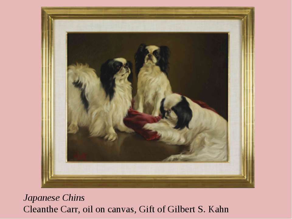 Japanese Chins Cleanthe Carr, oil on canvas, Gift of Gilbert S. Kahn