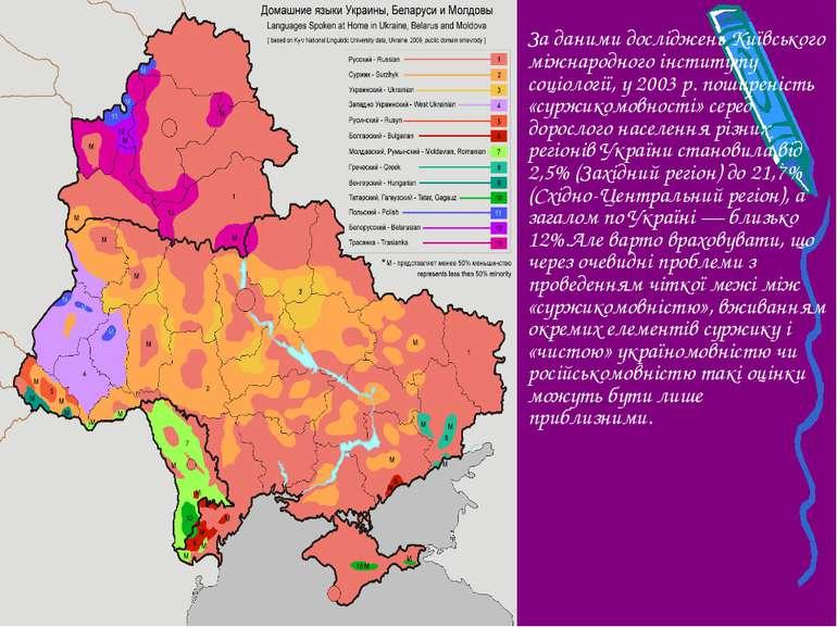 За даними досліджень Київського міжнародного інституту соціології, у 2003 р. ...