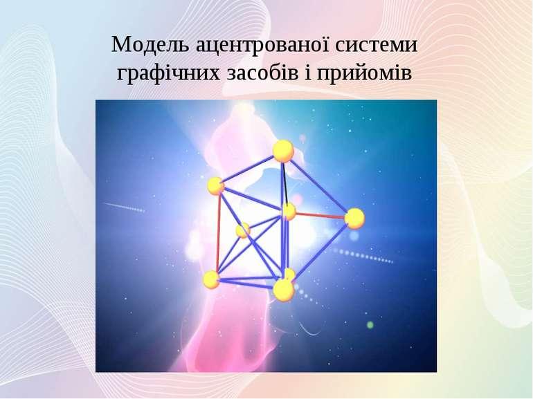 Модель ацентрованої системи графічних засобів і прийомів