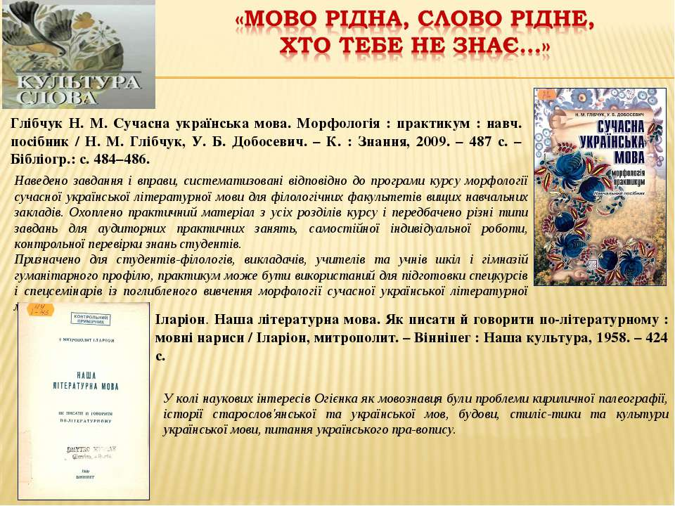 Глібчук Н. М. Сучасна українська мова. Морфологія : практикум : навч. посібни...