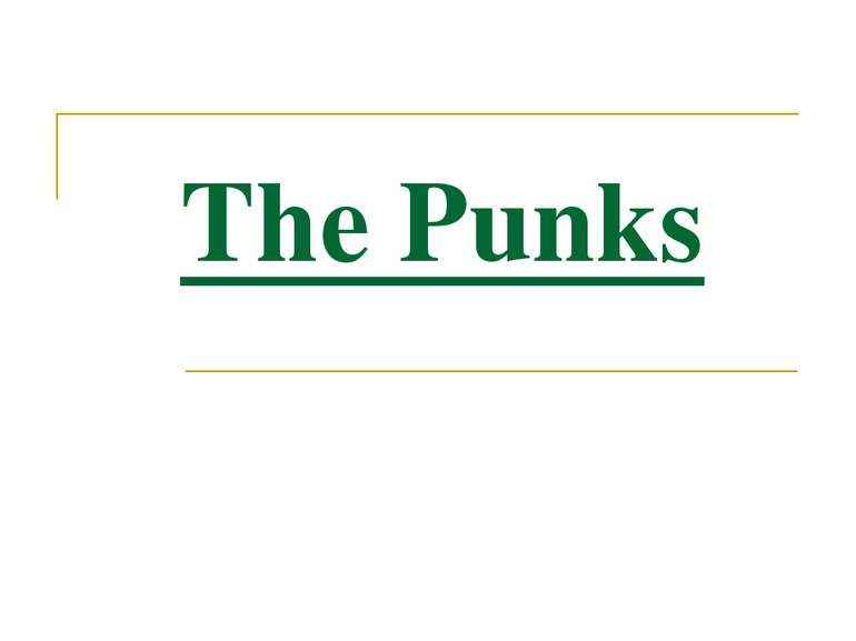 The Punks