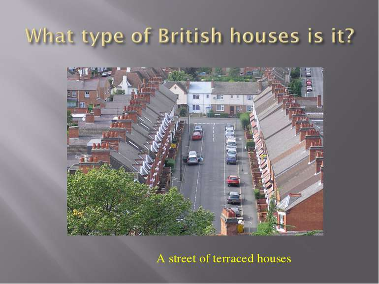 A street of terraced houses