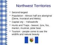 Northwest Territories Second-largest Population - Almost half are aboriginal ...