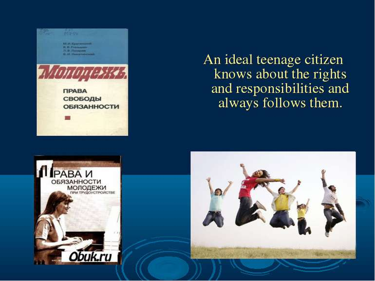 An ideal teenage citizen knows about the rights and responsibilities and alwa...