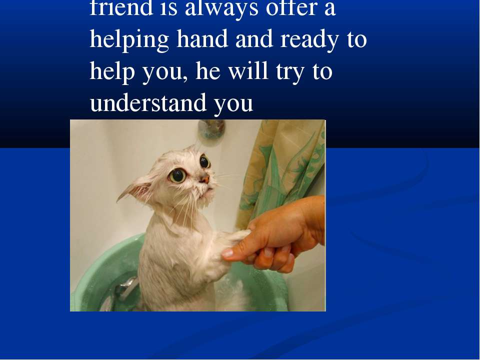 friend is always offer a helping hand and ready to help you, he will try to u...