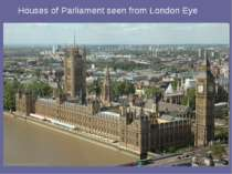 Houses of Parliament seen from London Eye