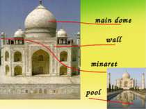 main dome wall minaret pool
