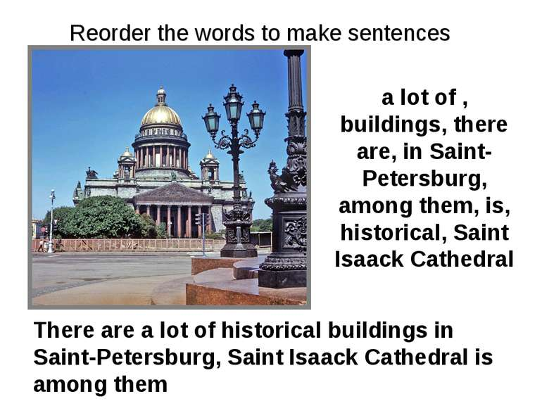 a lot of , buildings, there are, in Saint-Petersburg, among them, is, histori...