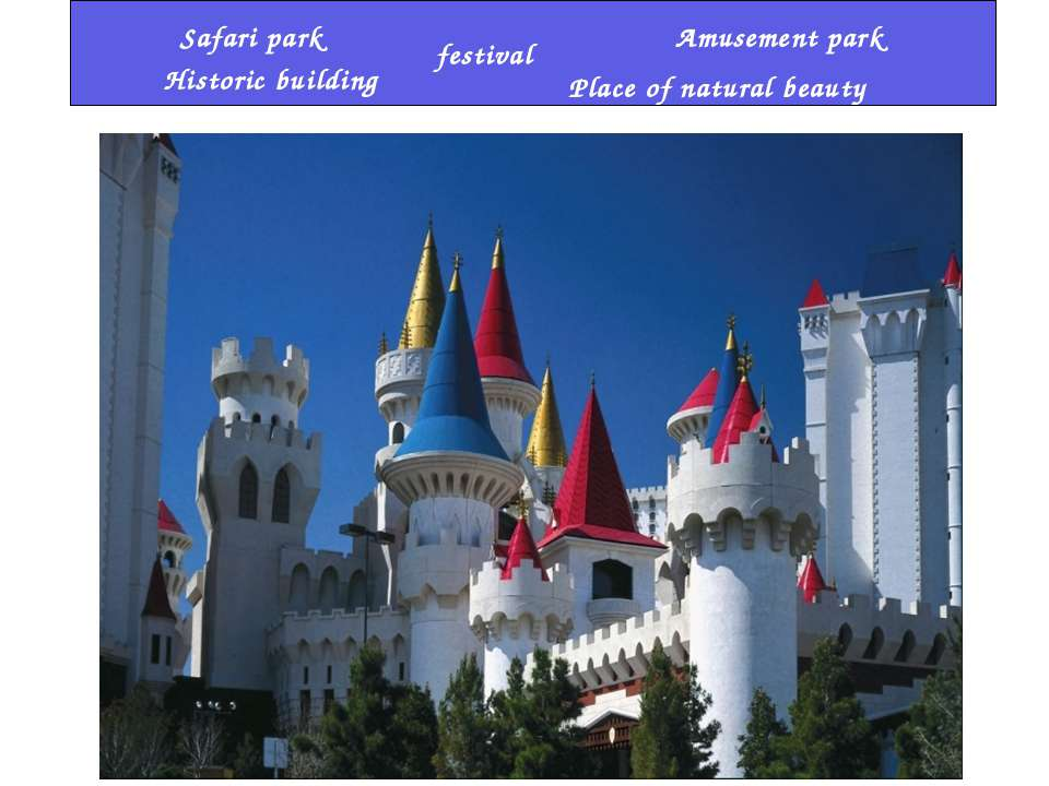 festival Amusement park Historic building Place of natural beauty Safari park