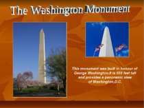 This monument was built in honour of George Washington.It is 555 feet tall an...