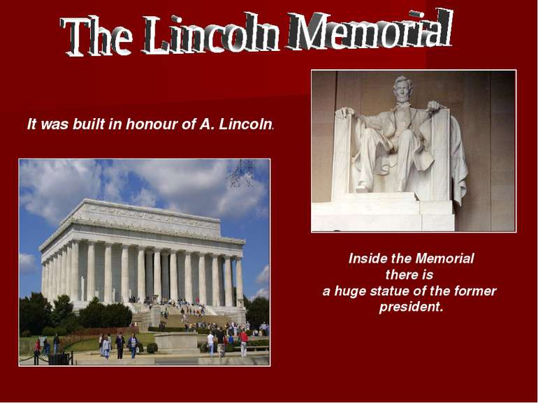 Inside the Memorial there is a huge statue of the former president. It was bu...