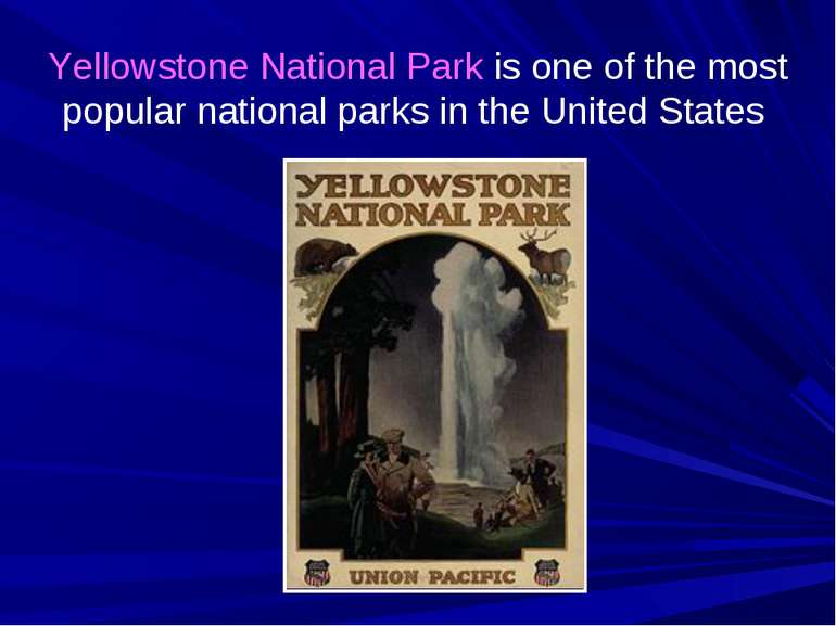 Yellowstone National Park is one of the most popular national parks in the Un...