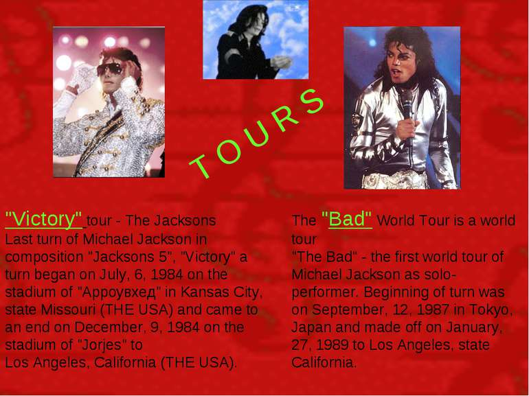 """T O U R S """"Victory"""" tour - The Jacksons Last turn of Michael Jackson in compo..."""