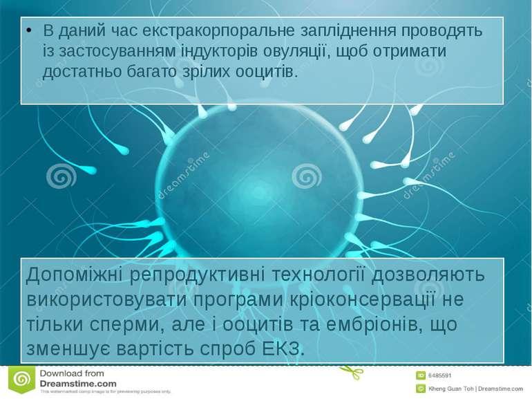 В даний час екстракорпоральне запліднення проводять із застосуванням індуктор...