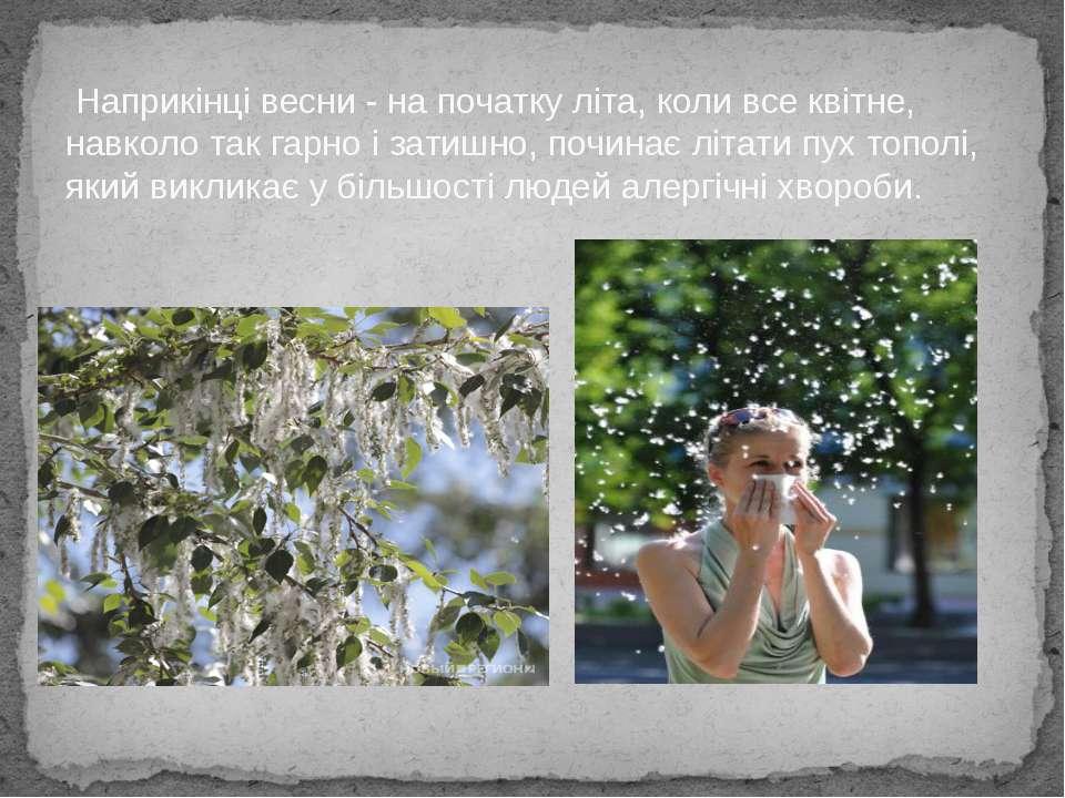 Наприкінці весни - на початку літа, коли все квітне, навколо так гарно і зати...