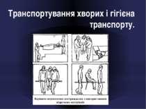 Транспортування хворих і гігієна транспорту.